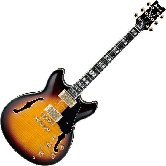 Ibanez Signature John Scofield JSM10 Hollow Body Electric Guitar Vintage Yellow Sunburst, JSM10VYS