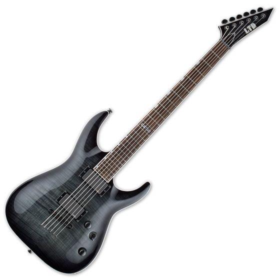 ESP LTD MH-401B FM Guitar in See-Thru Black Sunburst, MH-401B FM STBLKS