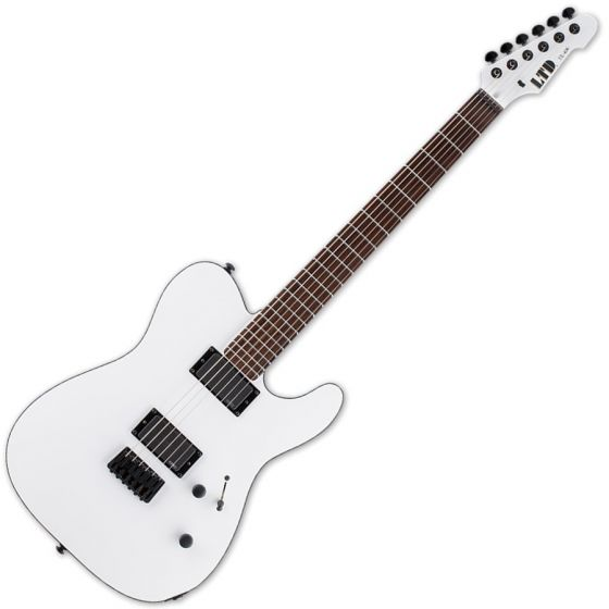 ESP LTD TE-406 Guitar in Snow White Satin Finish, LTD TE-406SWS
