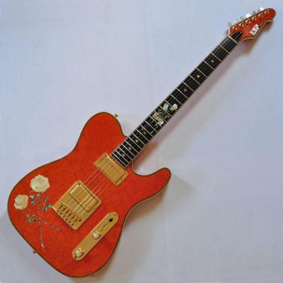 ESP USA Custom Rose Tele Electric Guitar, USA Rosetele