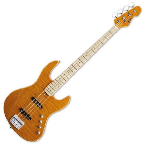 ESP E-II J-4QM AMB Amber Electric Bass Guitar, EIIJ4QMAMBA