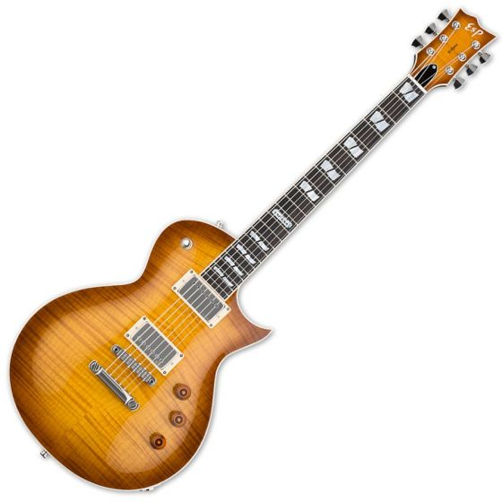 ESP USA Eclipse EMG Electric Guitar in Tea Sunburst Finish, USA-ECLIPSE-TEASB-EMG