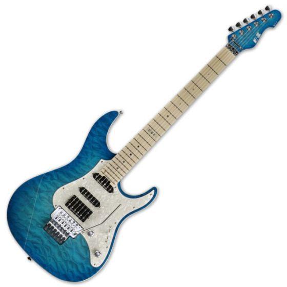 ESP E-II ST-1 QM LH Maple AQM Aqua Marine Electric Left Handed Guitar, EIIST1QMAQMLH
