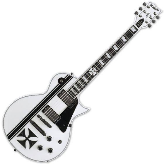 ESP Iron Cross Snow White James Hetfield Guitar with Case, ESP IRON CROSS