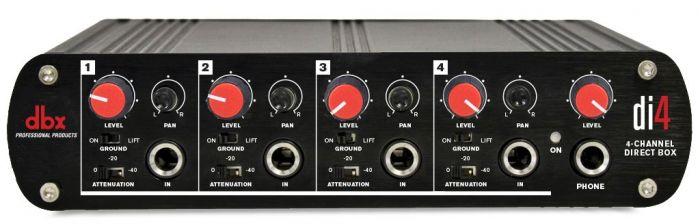 dbx DI4 Active 4 Channel Direct Box with Line Mixer, DBXDI4