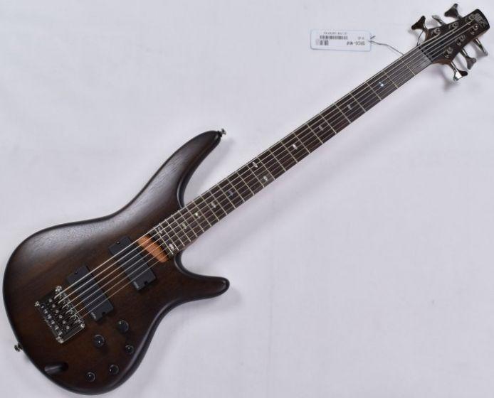 Ibanez SRC6 6 String Electric Bass in Walnut Flat B-Stock, SRC6WNF.B
