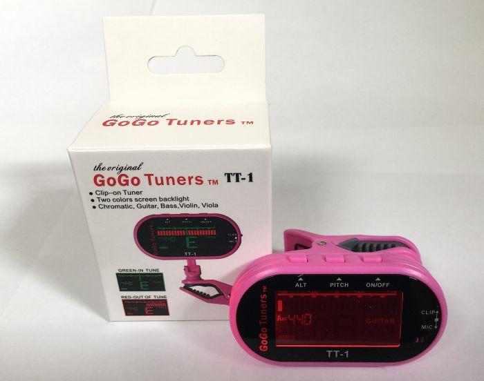 GoGo Tuners Pink TT-1 Chromatic Guitar, Bass, Violin, Viola Tuner, TT-1Pink
