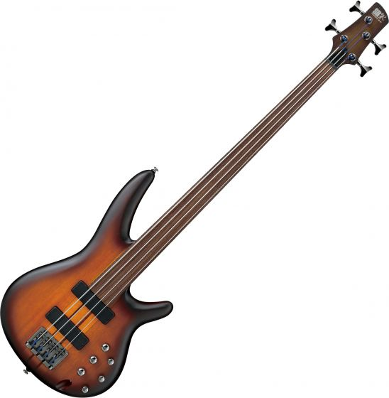 Ibanez SR Bass Workshop SRF700 Electric Bass Brown Burst Flat, SRF700BBF