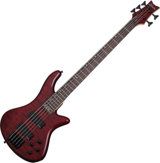 Schecter Stiletto Custom-5 Electric Bass Vampyre Red Satin[, 2538]