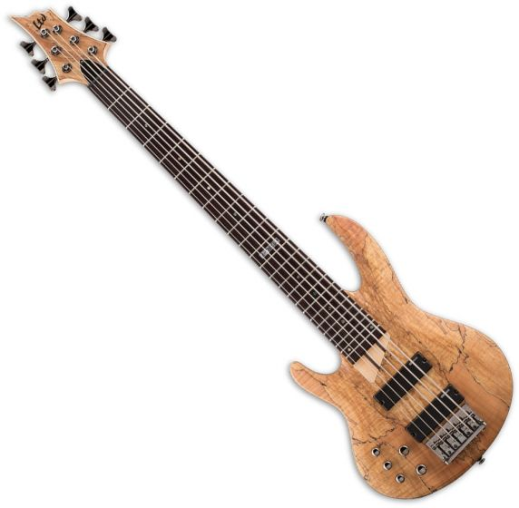 ESP LTD B-206SM Left-Handed Electric Bass in Natural Satin, B-206SM NS LH