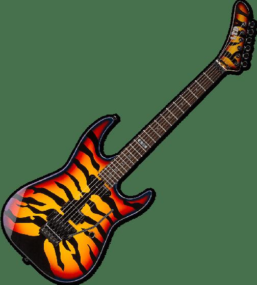 ESP LTD GL-200SBT George Lynch Electric Guitar in Sunburst Tiger, LTD GL-200SBT