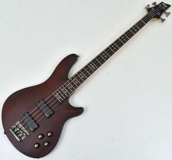 Schecter Omen-4 Electric Bass in Walnut Satin Finish, 2091