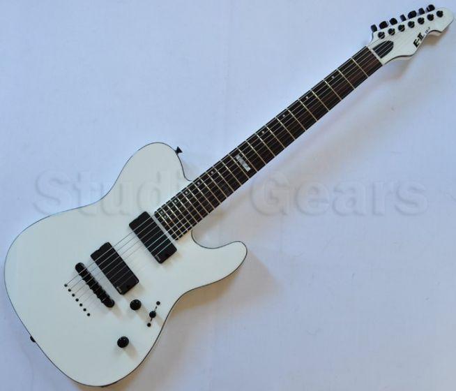 ESP E-II TE-7 Strings Electric Guitar in Snow White with Case, EIITESW