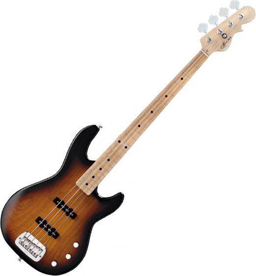 G&L Tribute JB-2 Bass Guitar in 3-Tone Sunburst Finish, JB2.MP.3TB-A