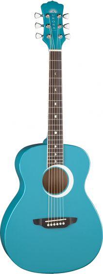 Luna Aurora Borealis 3/4 Acoustic Guitar Teal AR BOR TEAL, AR BOR TEAL