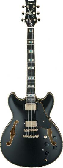 Ibanez JSM20 BKL John Scofield Black Low Gloss Hollow Body Electric Guitar w/Case, JSM20BKL