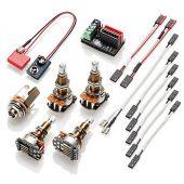 EMG 1 - 2 Pickup Conversion Wiring Kit Solderless Long Shaft