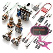 EMG 3 Pickup Conversion Wiring Kit PPP Push / Pull - Long Shaft w/ Free Guitar Tuner
