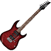 Ibanez GIO RX GRX70QA Electric Guitar in Transparent Red Burst