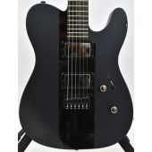 ESP LTD Deluxe TE-1000 Electric Guitar Satin Black Gloss Stripe B-Stock 0415