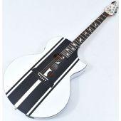 Schecter DJ Ashba Signature Acoustic Electric Guitar Satin White B-Stock 3634