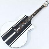Schecter DJ Ashba Signature Acoustic Electric Guitar Satin White B-Stock 3652