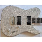 G&L ASAT Deluxe USA Custom Made Guitar in Silver Flake