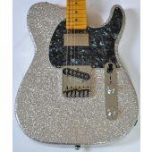 G&L ASAT Classic Bluesboy USA Custom Made Guitar in Silver Flake