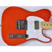 G&L ASAT Classic Bluesboy USA Custom Made Guitar in clear orange empress body