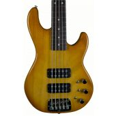 G&L usa custom L-2500 5 string empress body electric bass in honeyburst