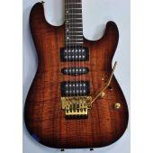 Schecter CET Koa Top USA Custom Shop Electric Guitar Tobacco Burst