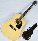 Ibanez PF15ECEWC-NT PF Series Acoustic Guitar in Natural High Gloss Finish SA141202029