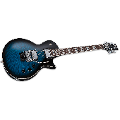ESP LTD Alex Skolnick AS-1 FR Electric Guitar in Black Aqua Sunburst