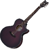 Schecter Orleans Stage Acoustic Guitar in Vampyre Red Burst Satin Finish