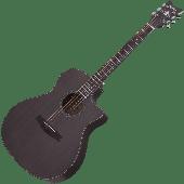 Schecter Orleans Studio Acoustic Guitar in Satin See Thru Black Finish