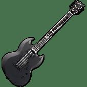 ESP E-II Viper Baritone Electric Guitar in Charcoal Metallic Satin