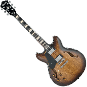 Ibanez Artcore Vintage ASV10AL Semi-Hollow Left-Handed Electric Guitar in Tobacco Burst Low Gloss