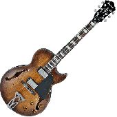Ibanez Artcore Vintage ASV10A Semi-Hollow Electric Guitar in Tobacco Burst Low Gloss