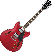 Ibanez Artcore Vintage ASV10A Semi-Hollow Electric Guitar in Transparent Cherry Red Low Gloss