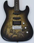 G&L USA Legacy HSS RMC Buckeye Burl Electric Guitar Blackburst