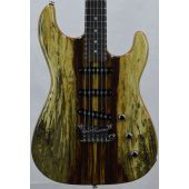 G&L USA S-500 RMC Spalted Tamarind Top Chechen Fretboard Electric Guitar Natural Gloss
