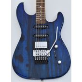 G&L USA Invader Spalted Alder Top Electric Guitar in Clear Blue. Brand New!