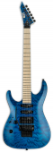 ESP LTD MH-203QM Left Handed See Thru Blue Electric Guitar