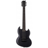 ESP LTD VIPER-7 Baritone Black Metal Black Satin Electric Guitar
