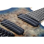 Schecter Reaper-7 Multiscale Electric Guitar in Satin Sky Burst