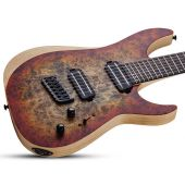 Schecter Reaper-7 Multiscale Electric Guitar in Satin Inferno Burst