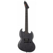 ESP LTD Reba Meyers Code Orange RM-600 Black Marble Satin Electric Guitar w/Case