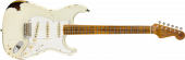 Fender Custom Shop 2019 Limited Roasted Tomatillo Strat Relic  Aged Olympic White over 2-Color Sunburst Electric Guitar