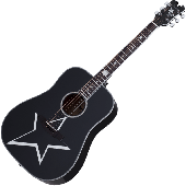 Schecter Robert Smith RS-1000 Busker Acoustic Guitar Gloss Black, 283