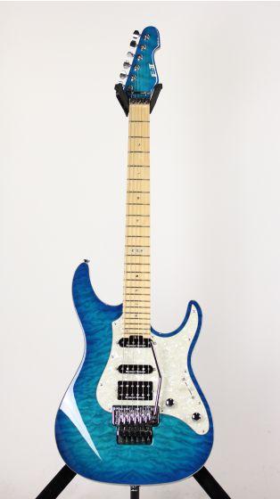 ESP E-II Standard ST-1 QM Quilted Maple Aqua Marine Electric Guitar, EIIST1QMMAQM
